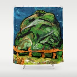Mysterious Hill Shower Curtain