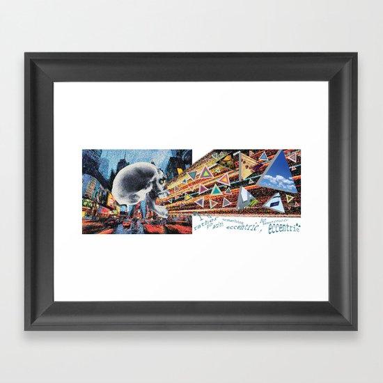 exhale art Framed Art Print