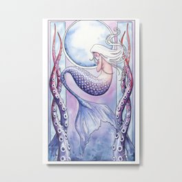 Deep Sea Mermaid Metal Print