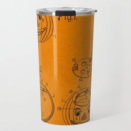 1907 Halloween Patent Jack O' Lantern Orange Travel Mug