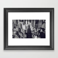 New York City Skyline - Shadow of the Empire State Building, fine art photo, nyc Framed Art Print