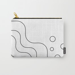 Geometric Abstract (Black) Carry-All Pouch