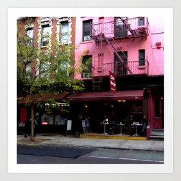 NY Streets - Cafe Borgia II SOHO Art Print