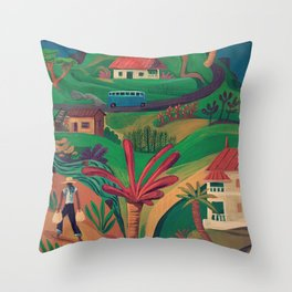 North Mahe, Seychelles Throw Pillow