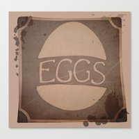 eggs Canvas Prints featuring Eggs by brit eddy