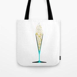 V Shaped Champagne Glasses Tote Bag