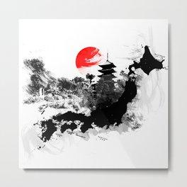 Abstract Kyoto - Japan Metal Print
