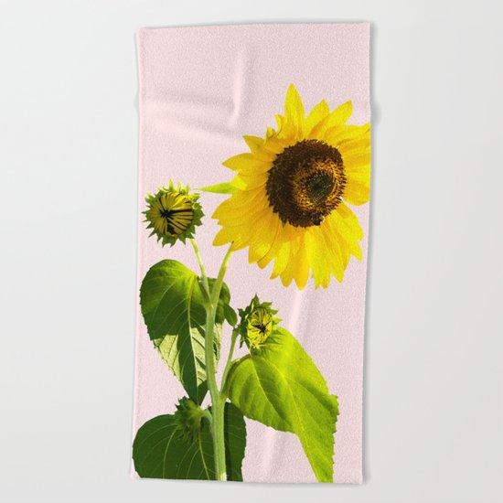 Sun Flower    #society6 #decor #buyart Beach Towel