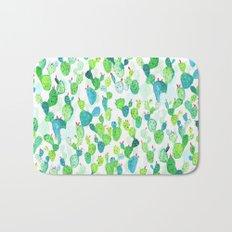 Watercolour Cacti Bath Mat