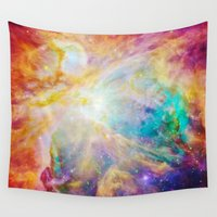 nebula Wall Tapestries featuring nEBula : Colorful Orion Nebula by 2sweet4words Designs