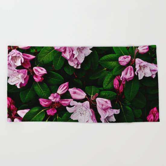 Spring Pink Rhododendron Beach Towel