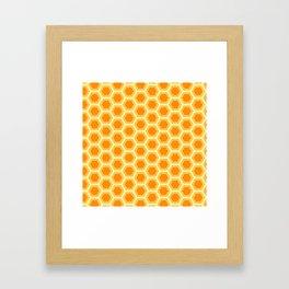 Hexagon Honeycomb Simple Nature Geometric Shapes in Nature Spirit Organic Framed Art Print