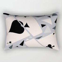 Sliced Pair of Aces Rectangular Pillow
