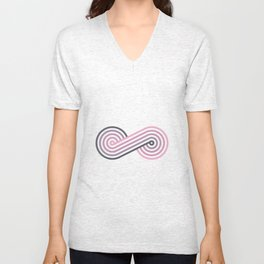 Twists and Knots #9 Unisex V-Neck
