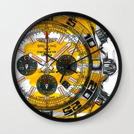 Chronomat Black Steel Wall Clock
