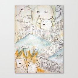 Bears Machine Canvas Print