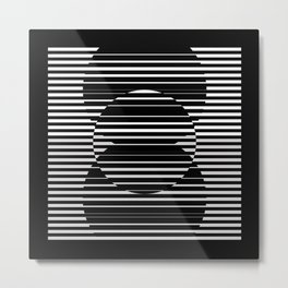 Optical Hypnotic Illusion 4 - Black & White Metal Print
