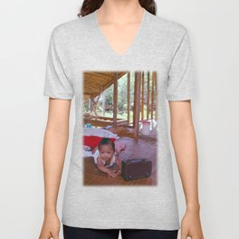 Dad Will Finish it One Day Unisex V-Neck