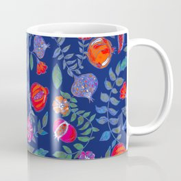 Pomegranate pattern electric blue Coffee Mug