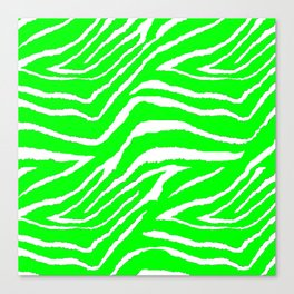 Green Zebra Abstract #2 Canvas Print