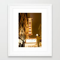 theatre Framed Art Prints featuring Theatre by Riley Helsen