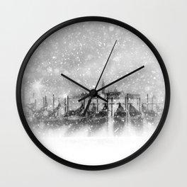 Venice | fairytale-like winter magic Wall Clock