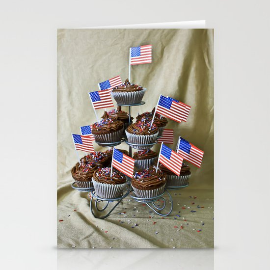 Chocolate Cupcakes Stationery Cards