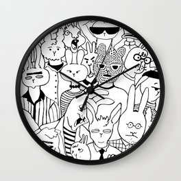 Bunny Hole Wall Clock