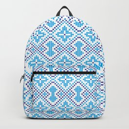 Blue embroidery pattern Backpack