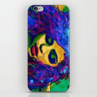 selena gomez iPhone & iPod Skins featuring Selena (pop) by    Amy Anderson