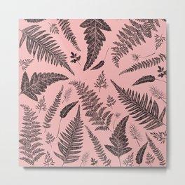 Pink Ferns Metal Print
