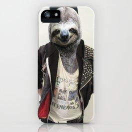 Punk Sloth iPhone Case