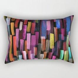 colorful brushstrokes pattern Rectangular Pillow