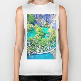 Waterfall Oasis Biker Tank