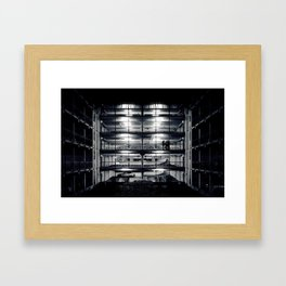 Perfect light in a lonely car park Framed Art Print