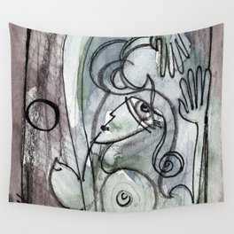 Abstract Nude Goddess No. 40O by Kathy Morton Stanion Wall Tapestry