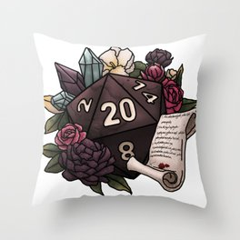 Warlock Class D20 - Tabletop Gaming Dice Throw Pillow
