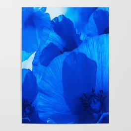 Blue Poppies #decor #society6 #buyart Poster