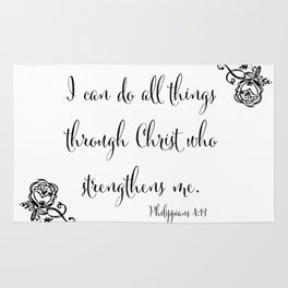 I Can Do All Things Through Christ Who Strengthens Me Rug
