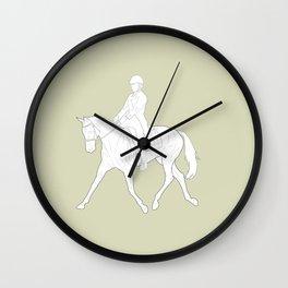 Dressage in Green Wall Clock