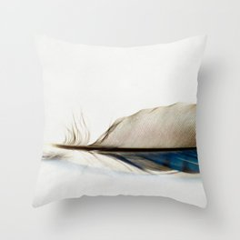 Blue Jay Feather Throw Pillow