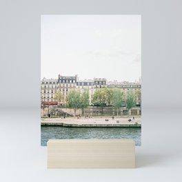 View of Parisian buildings along the River Seine on film | Paris, France | Fine Art Travel Photography Mini Art Print