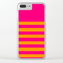 Hot Pink and Tangerine Orange Clear iPhone Case