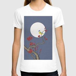 Plum blossoms, bird and the moon Type H (Minhwa: Korean traditional/folk art) T-shirt