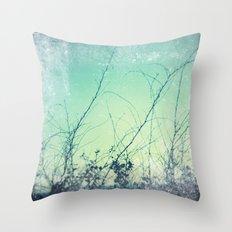 sea plants (teal) Throw Pillow