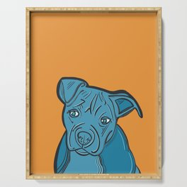 American Pit Bull Pop Art Serving Tray