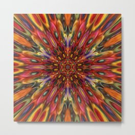 Multicolour Starburst 7 Metal Print