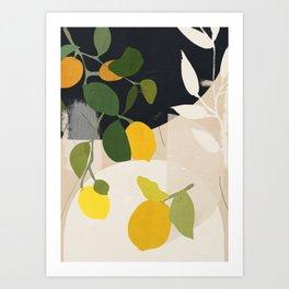 Lemon Abstract Art Art Print