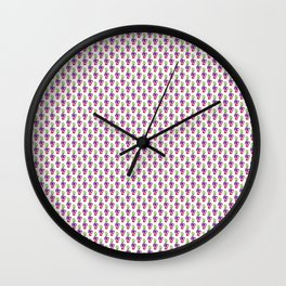 Colourful clefs Wall Clock