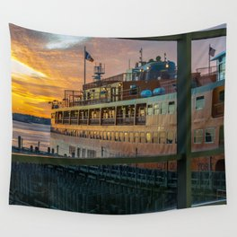 Ferry Docked (Staten Island Ferry) Wall Tapestry